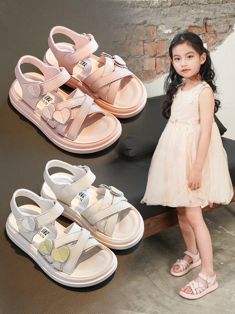 兒童涼鞋 女童涼鞋兒童公主鞋小女孩童鞋2021夏天新款中大童軟底鞋子寶寶鞋『XY19477』