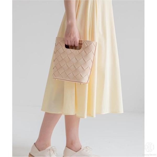 手工復古編織女包 原色植鞣皮手提包【Kacey Devlin】
