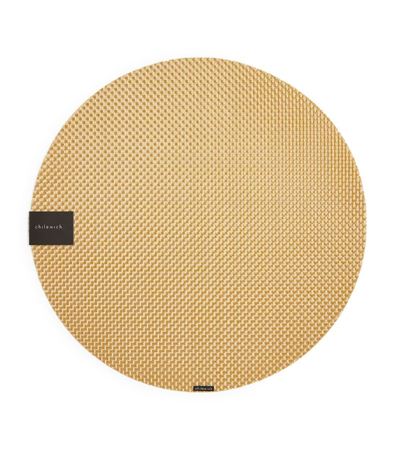 Chilewich Basketweave Gilded Round Placemat (38Cm)