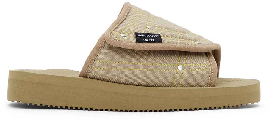 John Elliott 绿色 Suicoke 联名 SAW-CAB 拖鞋