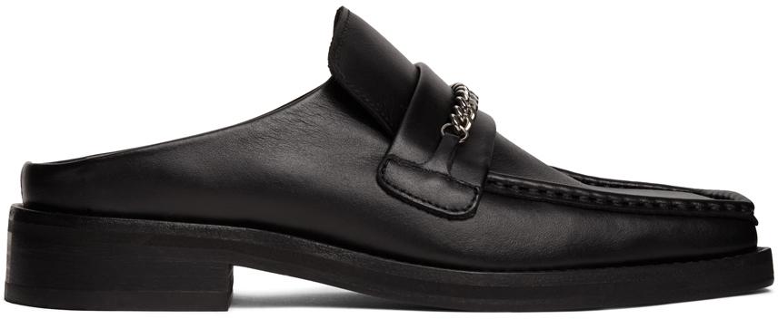 Martine Rose 黑色套脚乐福鞋