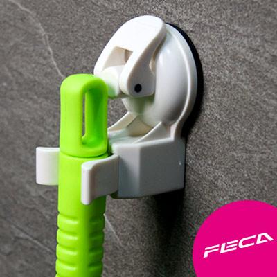 【FECA】 非卡 超強力吸盤 壁式收納管夾