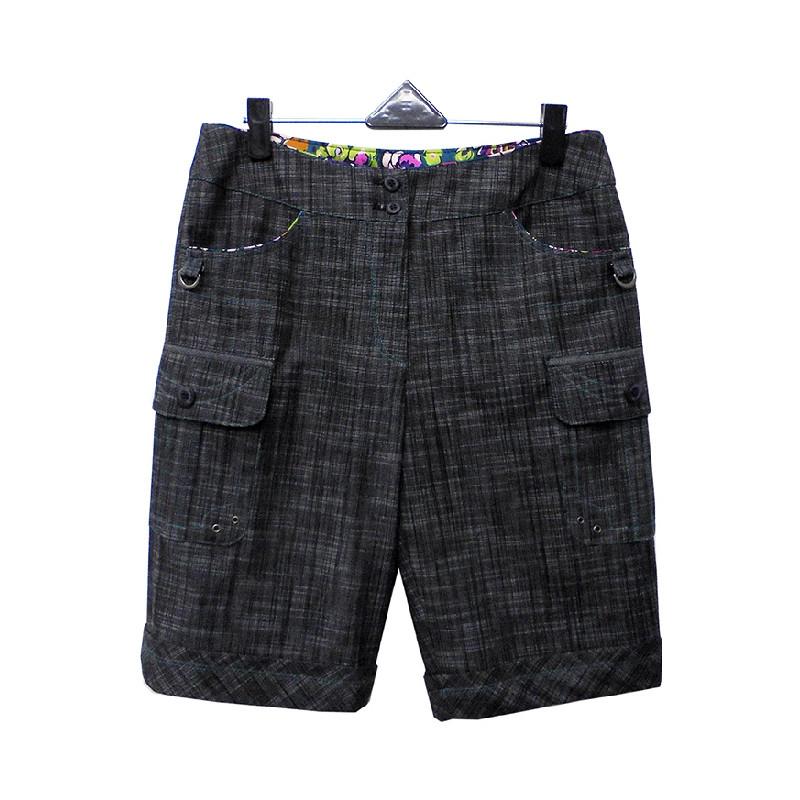 非常衣著 香緹 chante'質感布面口袋設計鈕扣短褲