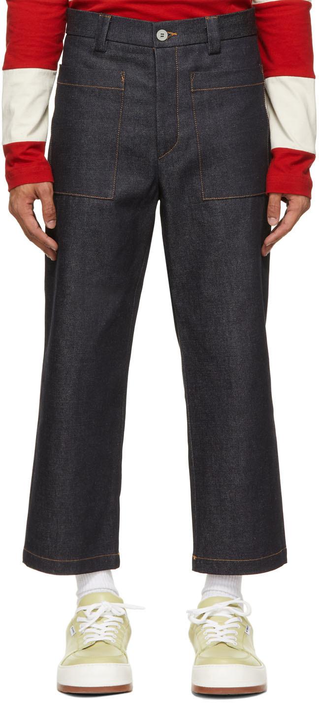 Sunnei 靛蓝色 Straight Dark 牛仔裤