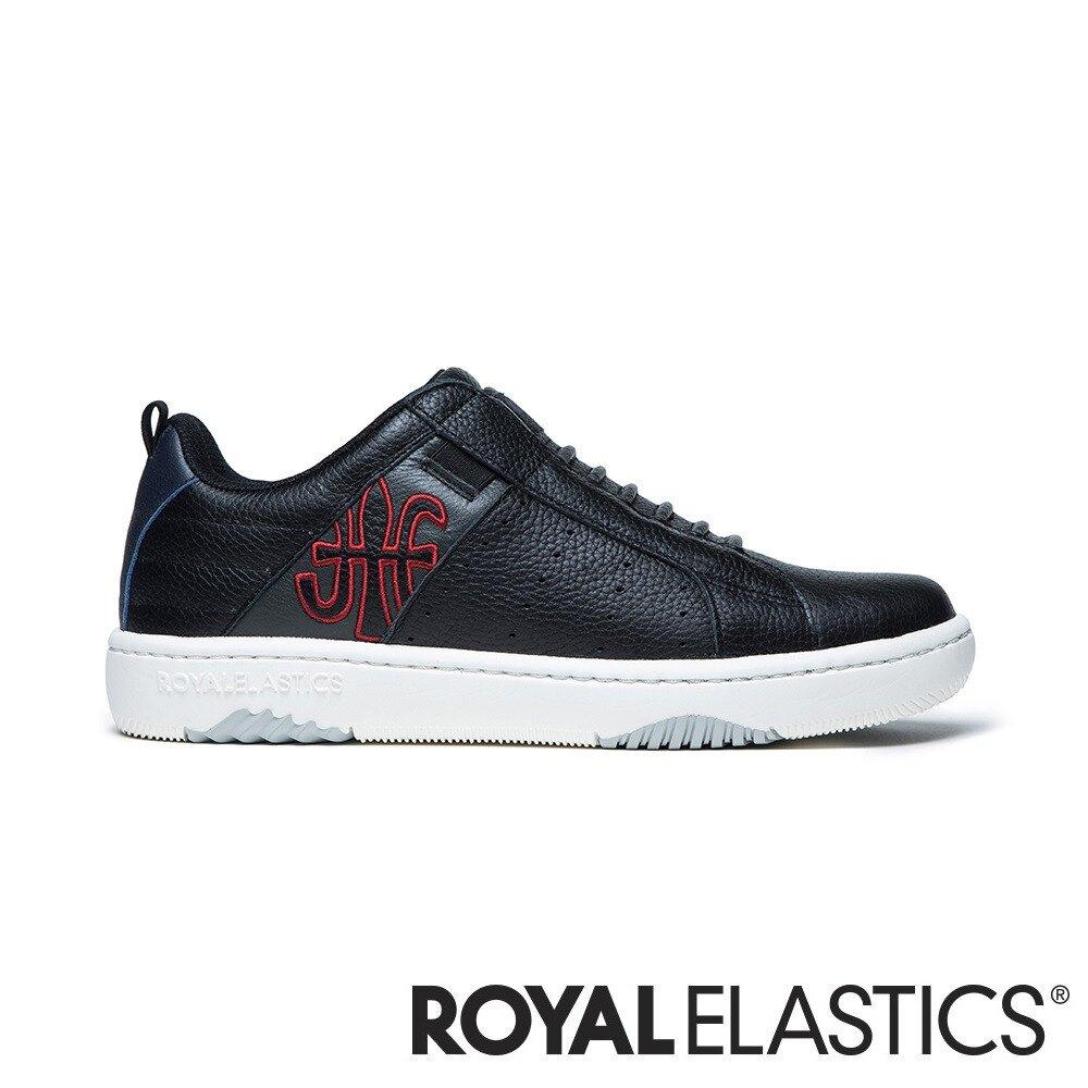 ROYAL ELASTICS ICON2.0 黑紅真皮潮流運動休閒鞋 (女) 96512-985