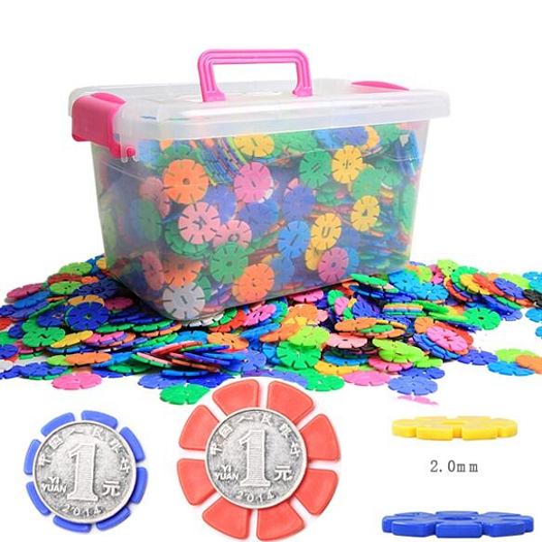 雪花片積木 大號加厚3-6歲兒童寶寶拼圖拼插智力開發男孩女孩玩具 璐璐