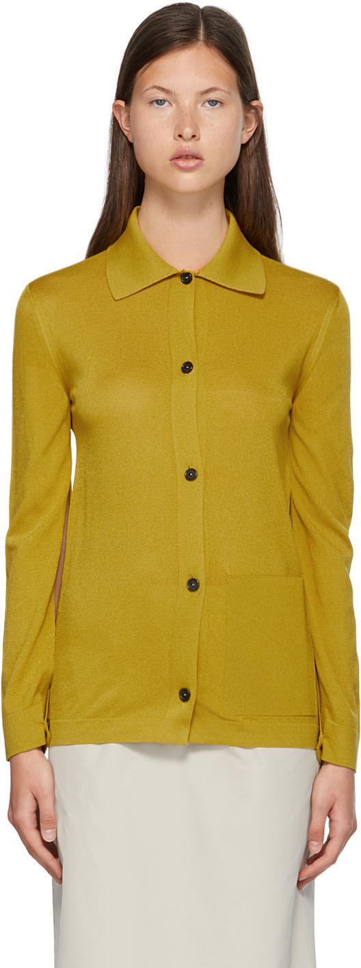 Nina Ricci 黄色针织开衫