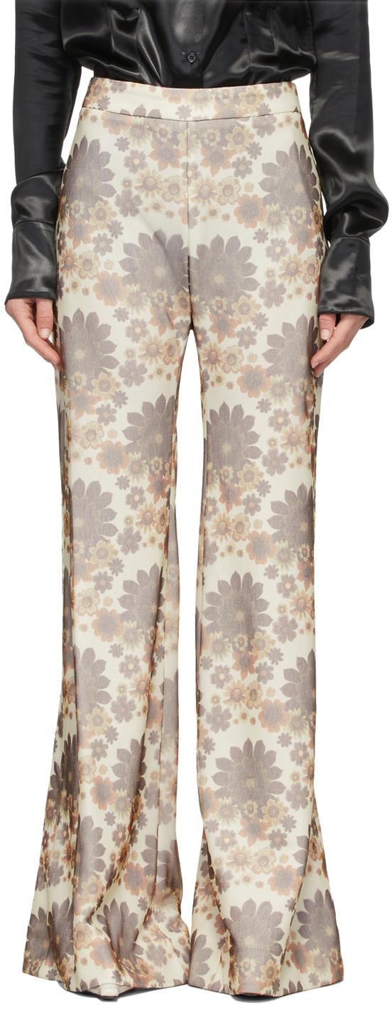 Kwaidan Editions 灰白色花卉长裤