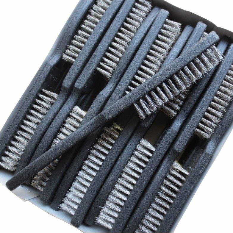 熱銷新品 【臺灣專供】不鏽鋼 高檔塑料柄鋼絲刷\金屬表面清潔刷\除漆除鏽刷子 鋼絲板刷