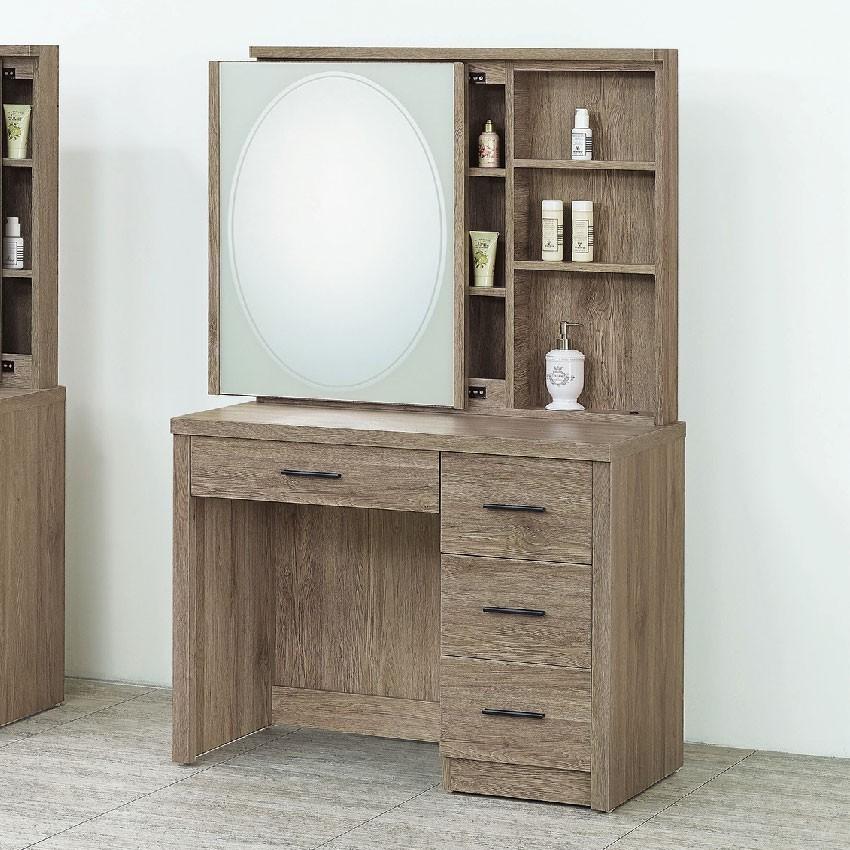 92cm化妝台-e210-10化妝桌收納 化妝椅 化妝鏡 梳妝台 房間鏡台 金滿屋