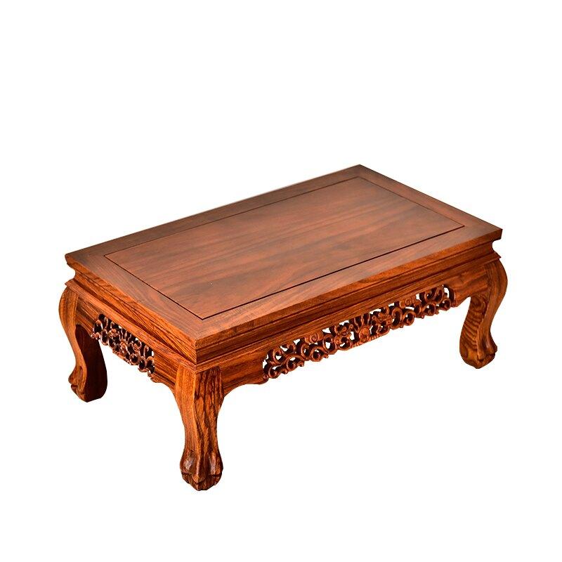 大號紅木花梨木擺件魚缸佛像底座實木炕桌茶幾榻榻米飄窗桌子炕幾