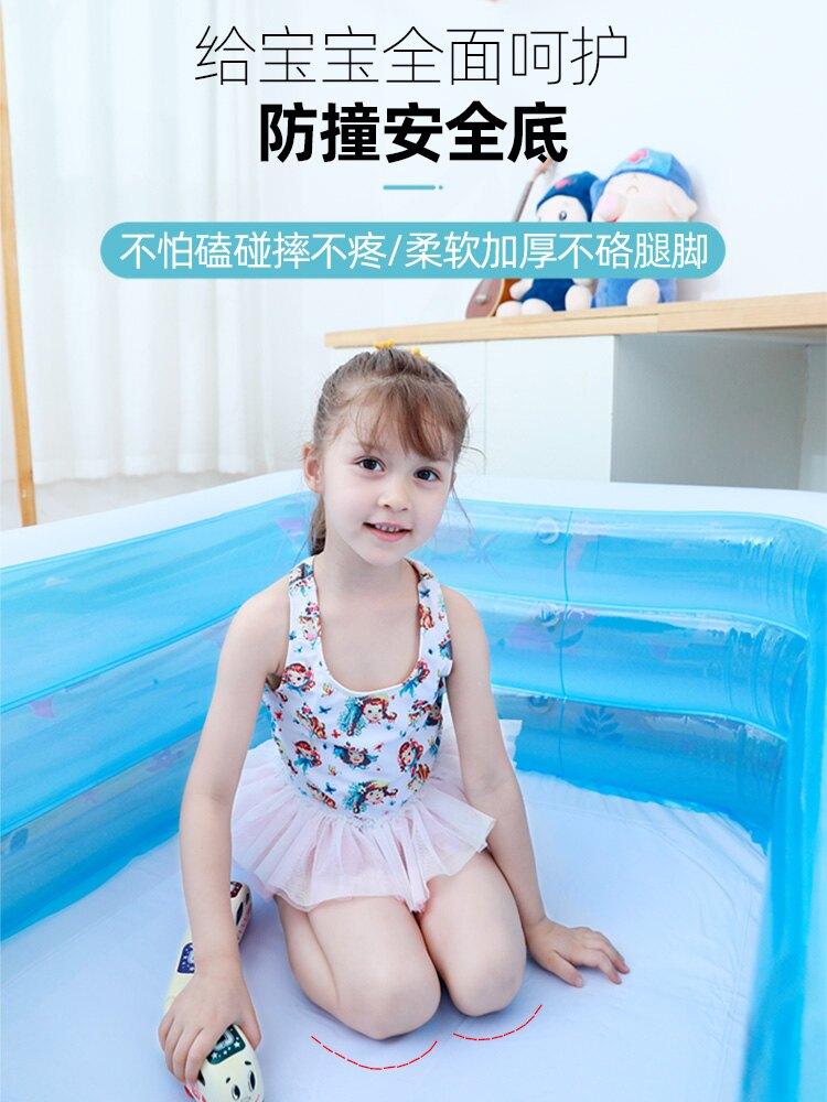 充氣泳池 家用兒童充氣游泳池加厚超大型嬰兒寶寶折疊桶小孩室內家庭戲水池ZHJG199