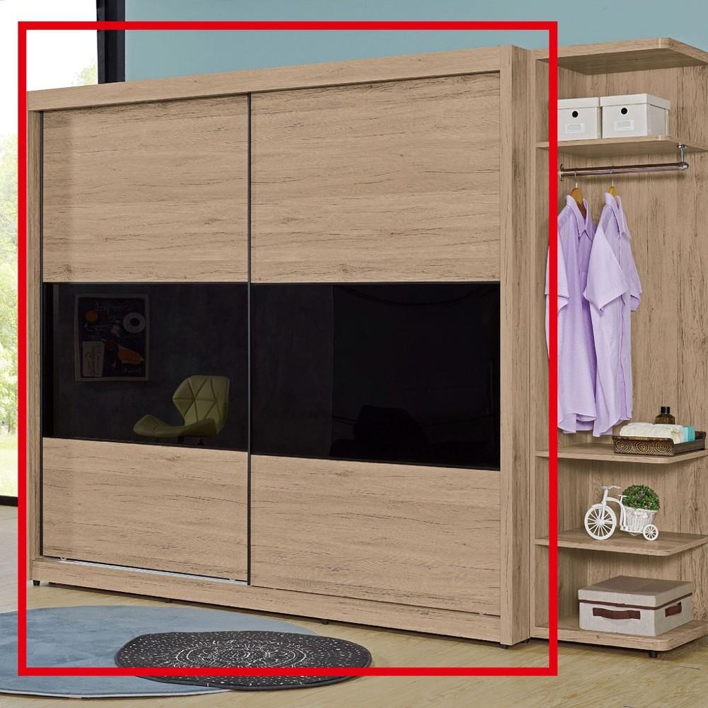 211.5cm推門衣櫃-a099-5木心板 推門滑門開門 衣服收納 免組裝 金滿屋