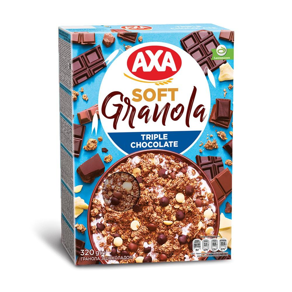 【瑞典AXA】三重巧克力穀物麥片320g(奢華升級版配方)