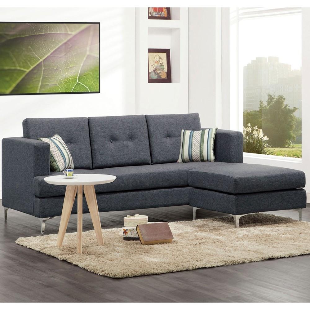 200cml型布沙發-a234-2 單人座 l型沙發 貓抓皮 布沙發 沙發床 沙發椅 金滿屋