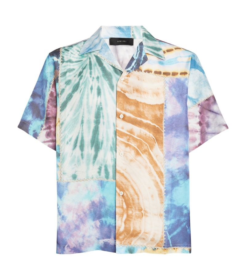 Amiri Patchwork Tie-Dye Short-Sleeved Shirt