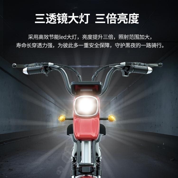 知影新國標電動車成人電瓶車48v電動自行車男女款小型長跑王電車