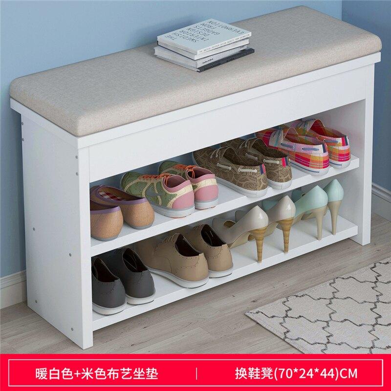 坐式鞋櫃 換鞋凳家用門口鞋櫃凳子一體軟包坐墊可坐式鞋櫃進門穿鞋長條凳T