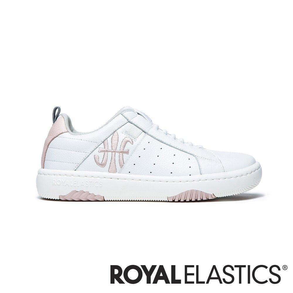 ROYAL ELASTICS ICON2.0 粉白真皮潮流運動休閒鞋 (女) 96511-011