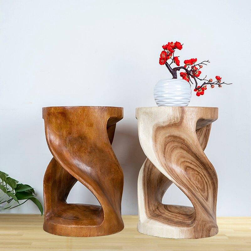 北歐木墩實木圓形木樁凳子創意原木墩子樹頭坐墩個性座椅樹樁樹墩