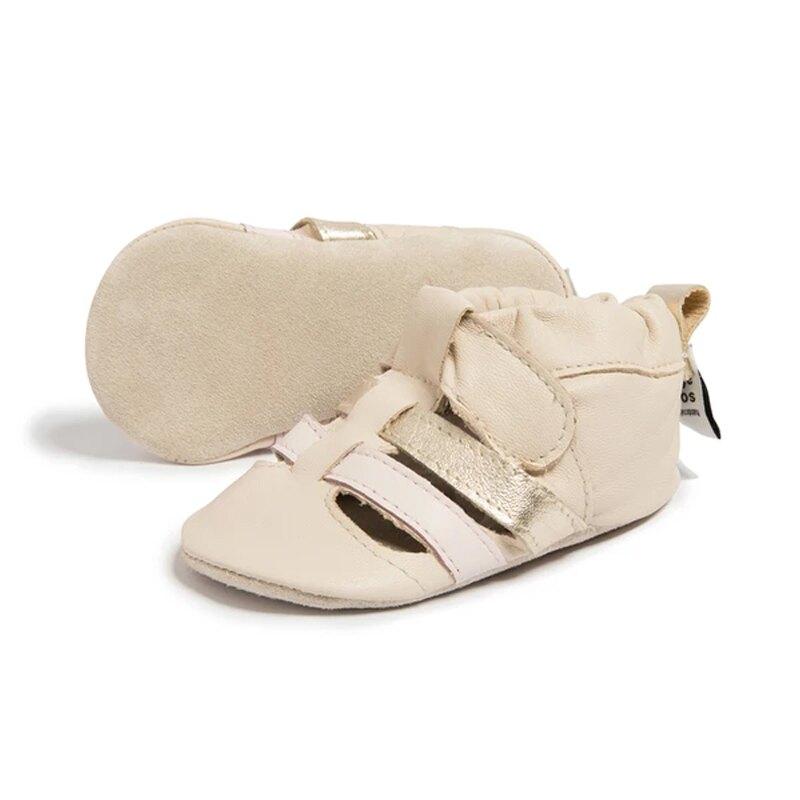 英國 shooshoos 健康無毒真皮手工鞋/專業真皮學步鞋/專業嬰兒鞋_雙色編織(純粉)_SS103937