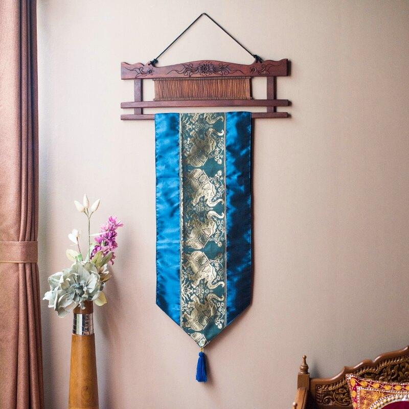 泰國進口泰絲布藝掛毯床頭裝飾品東南亞風格客廳墻面裝飾掛毯壁毯