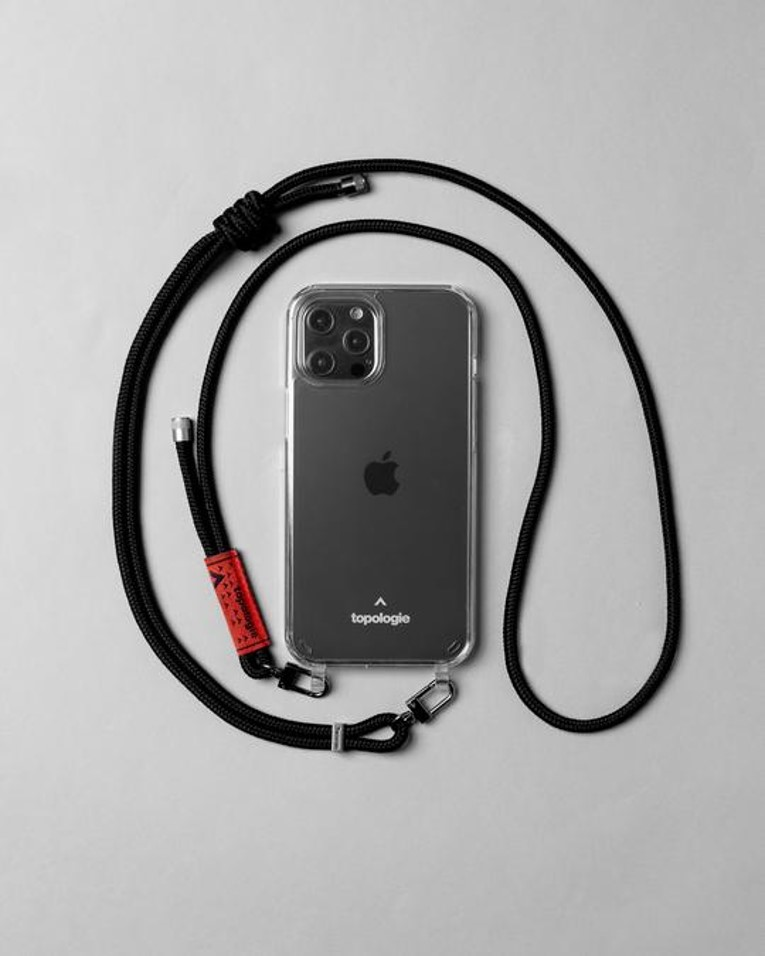 Verdon 繩索背帶手機殼 / 純黑