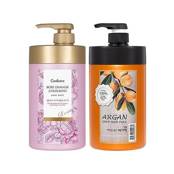 Confume 粉紅玫瑰/摩洛哥黃金果油 修護髮膜(1000ml) 款式可選【小三美日】