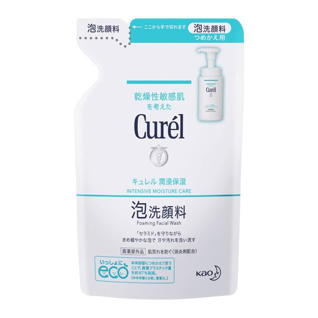 【Curel 珂潤】潤浸保濕洗顏慕絲 補充包 130ml