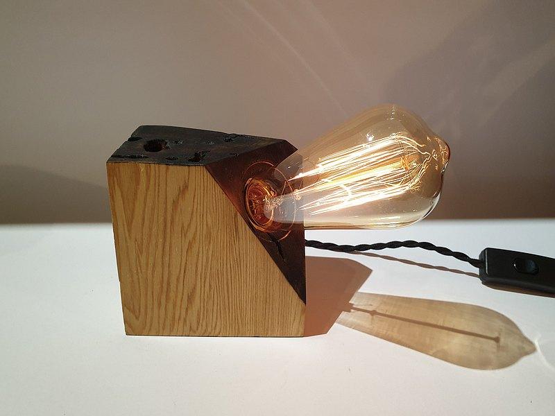 【C.L Studio】設計款 復古炭化檜木燈 藝術燈飾 床頭夜燈 木頭燈