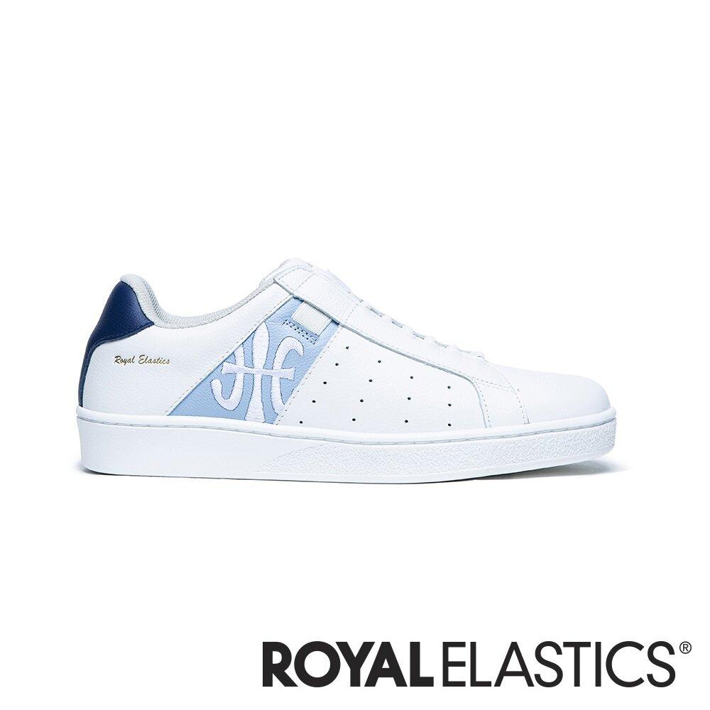ROYAL ELASTICS ICON 藍白真皮運動休閒鞋 (女) 91911-055
