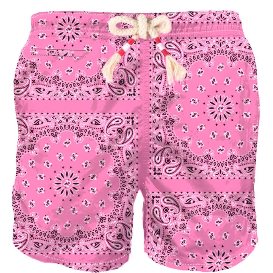 Pink Bandana Man Swim Shorts