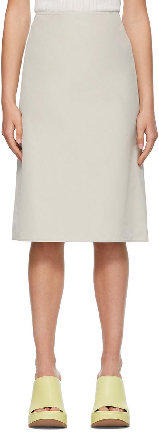 Nina Ricci 灰色 Classic A 字型短裙