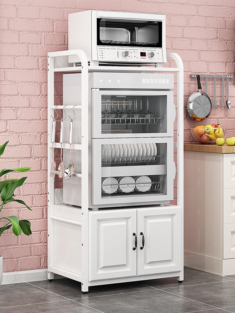 廚房置物架落地式多層立式消毒櫃烤箱微波爐架子小電器收納櫥櫃子