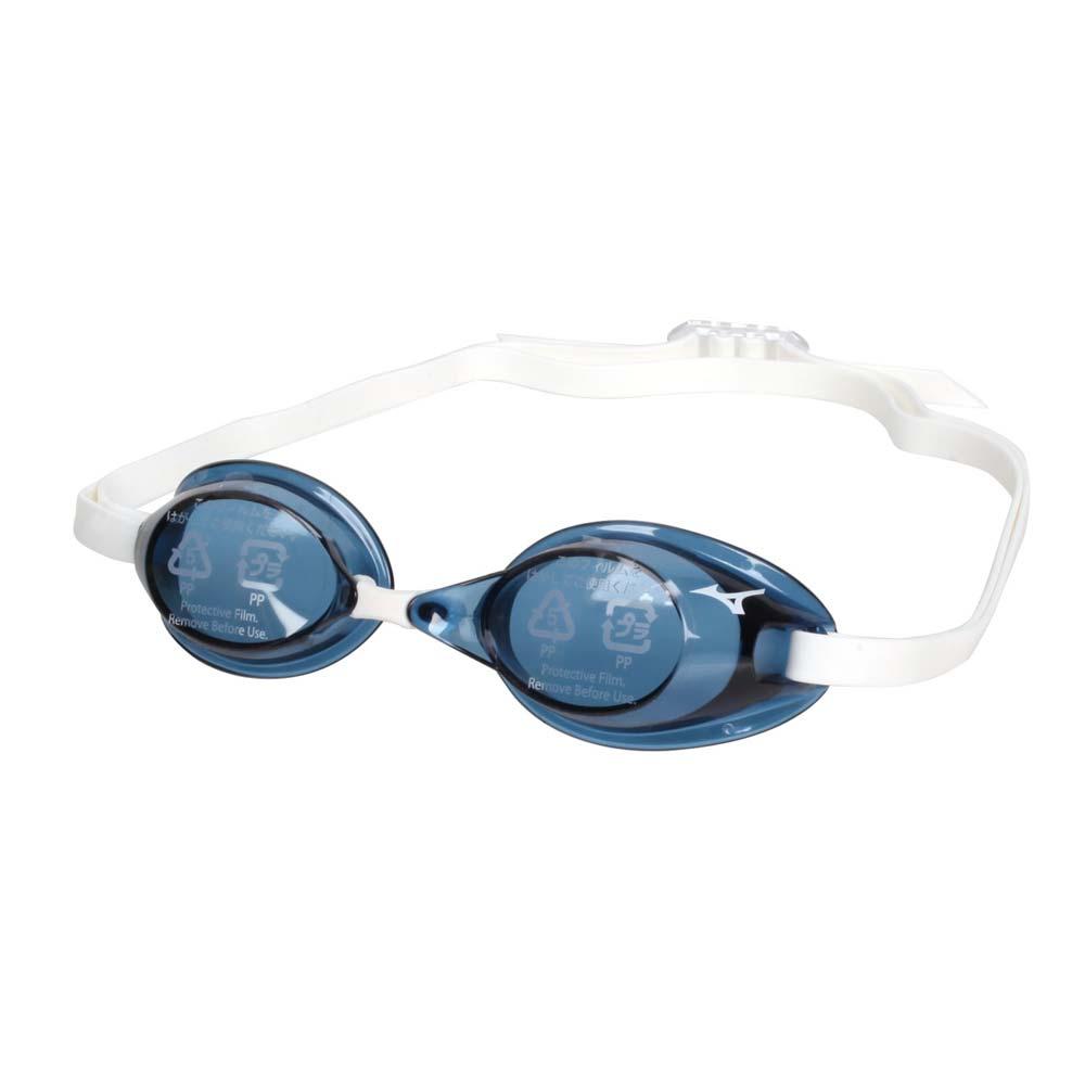 MIZUNO SWIM 泳鏡-防霧 抗UV 游泳 日製 蛙鏡 訓練 美津濃 藍黑白 F