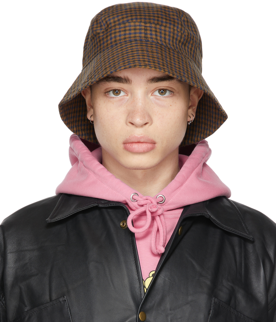 Liberal Youth Ministry 多色格纹羊毛渔夫帽