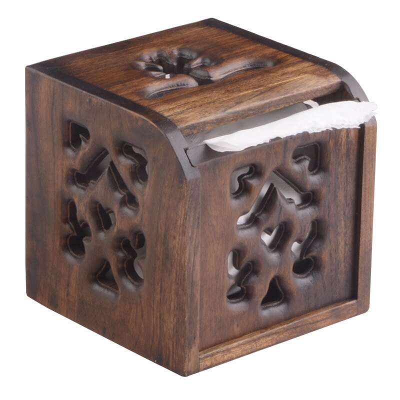 異麗東南亞創意實木家用方形抽紙巾盒衛生間卷紙盒廁所手紙廁紙盒