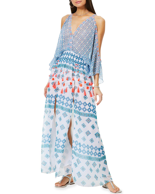 Kaya Printed Midi Coveurp Dress