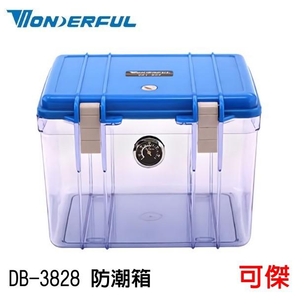 WONDERFUL 萬得福 DB-3828 溼度監控 壓克力指針濕度表 防潮箱 防潮盒 扎實板扣 平衡氣閥 附除濕盒