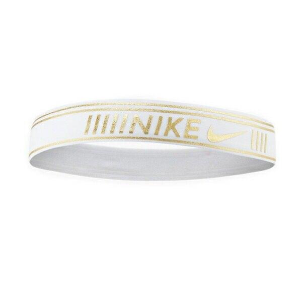 Nike Pro Metallic [N0003527109OS] 頭帶 運動 休閒 健身 訓練 吸濕 排汗 乾爽 白金