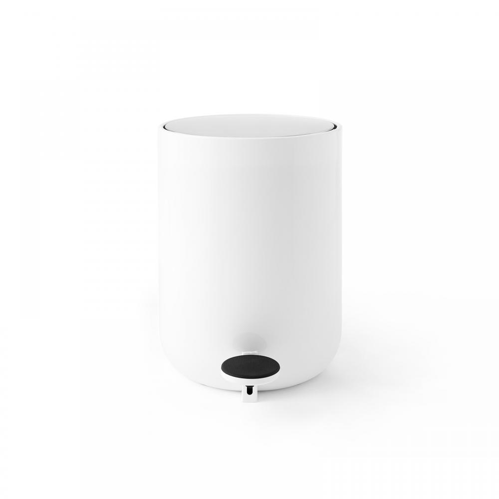 Menu Pedal Bin 4L, Norm 衛浴系列 踩踏式 垃圾桶 特小尺寸(亮白色)
