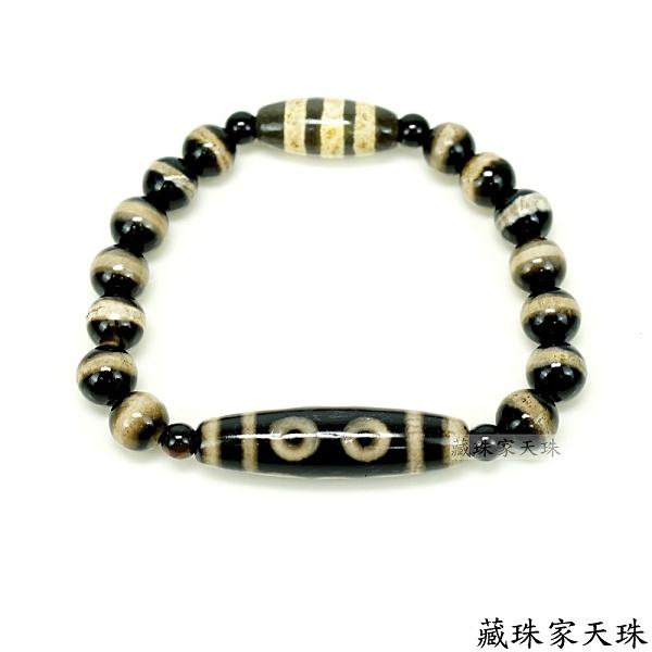 《藏珠家天珠》五方佛和五路財神齊聚 五眼招財+線珠天珠手鍊