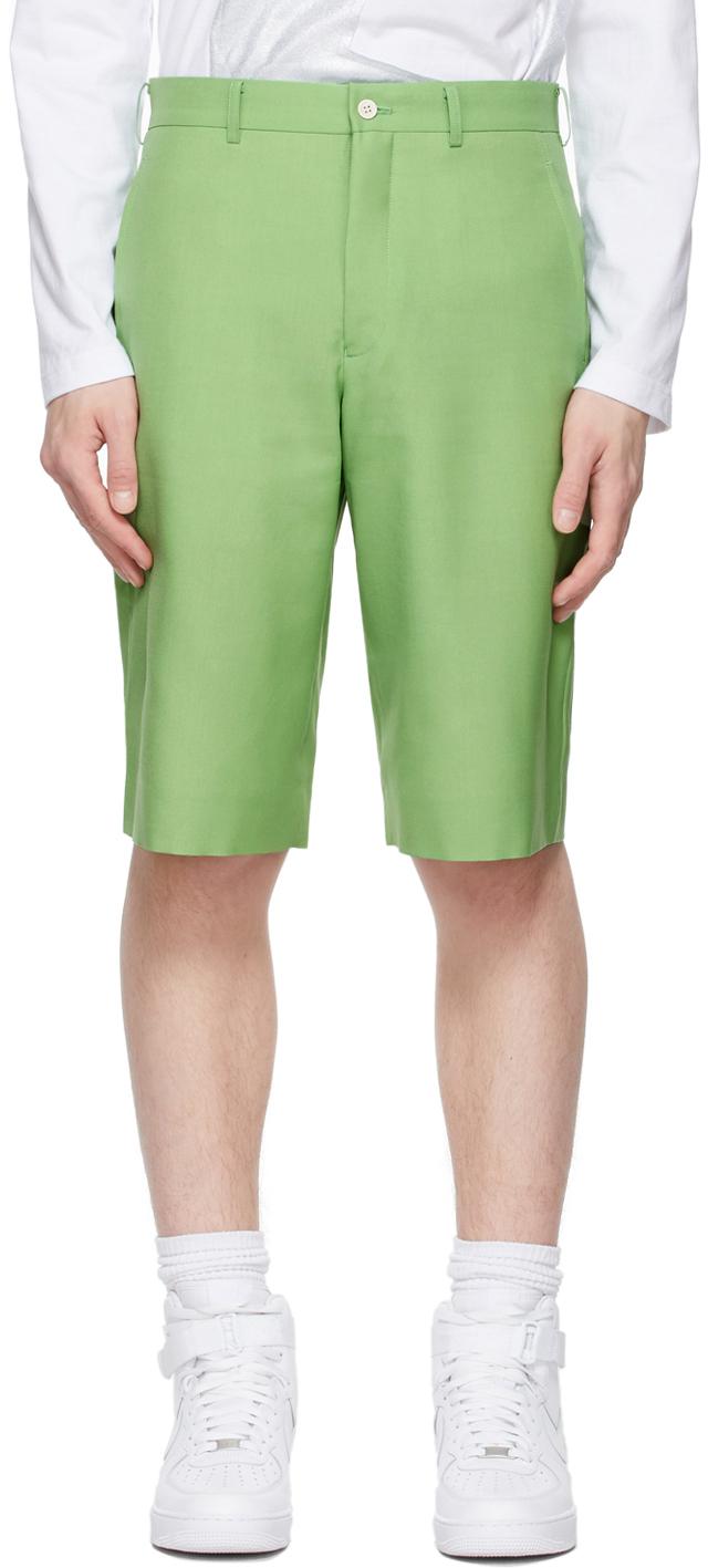 Comme des Garçons Homme Plus 绿色中腰短裤