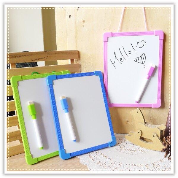 尼可熊小白板(附筆) 單面白板 記事留言板 寫字板 塗鴉繪畫板 可掛式畫板 文具用品 贈品禮品
