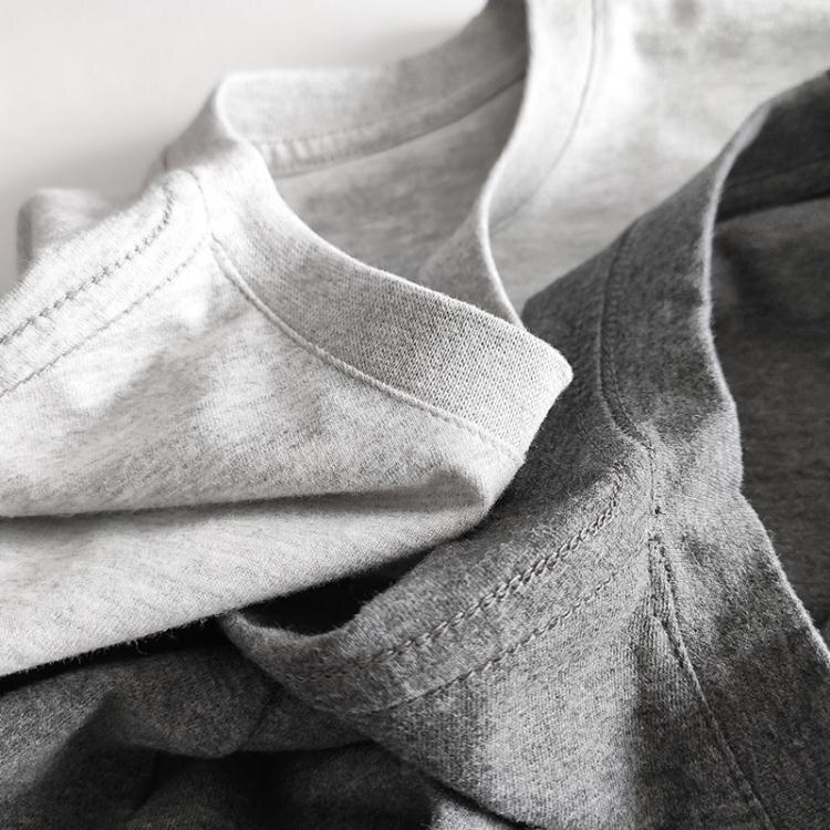 短袖T恤 2件】純棉短袖t恤男純色夏季寬松圓領上衣服白色半袖打底衫男全棉 星期八 果果輕時尚