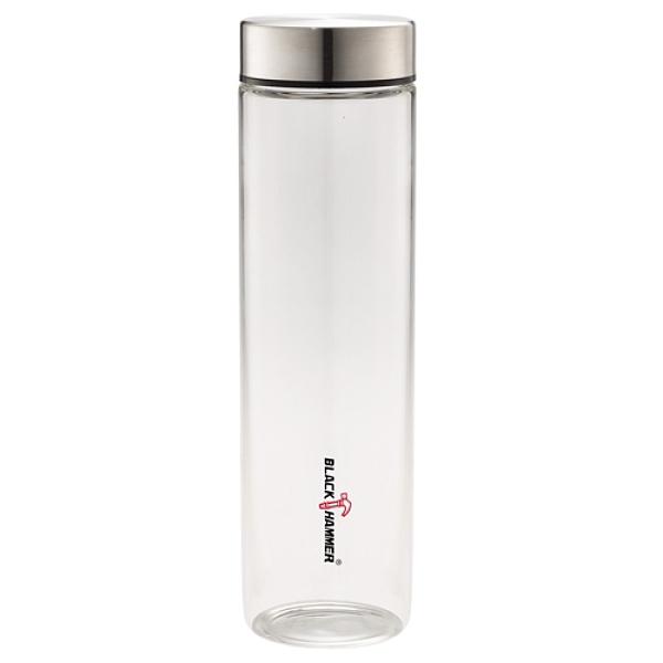 【2件超值組】BLACK HAMMER 晶透耐熱玻璃瓶附布套(630ml)【愛買】
