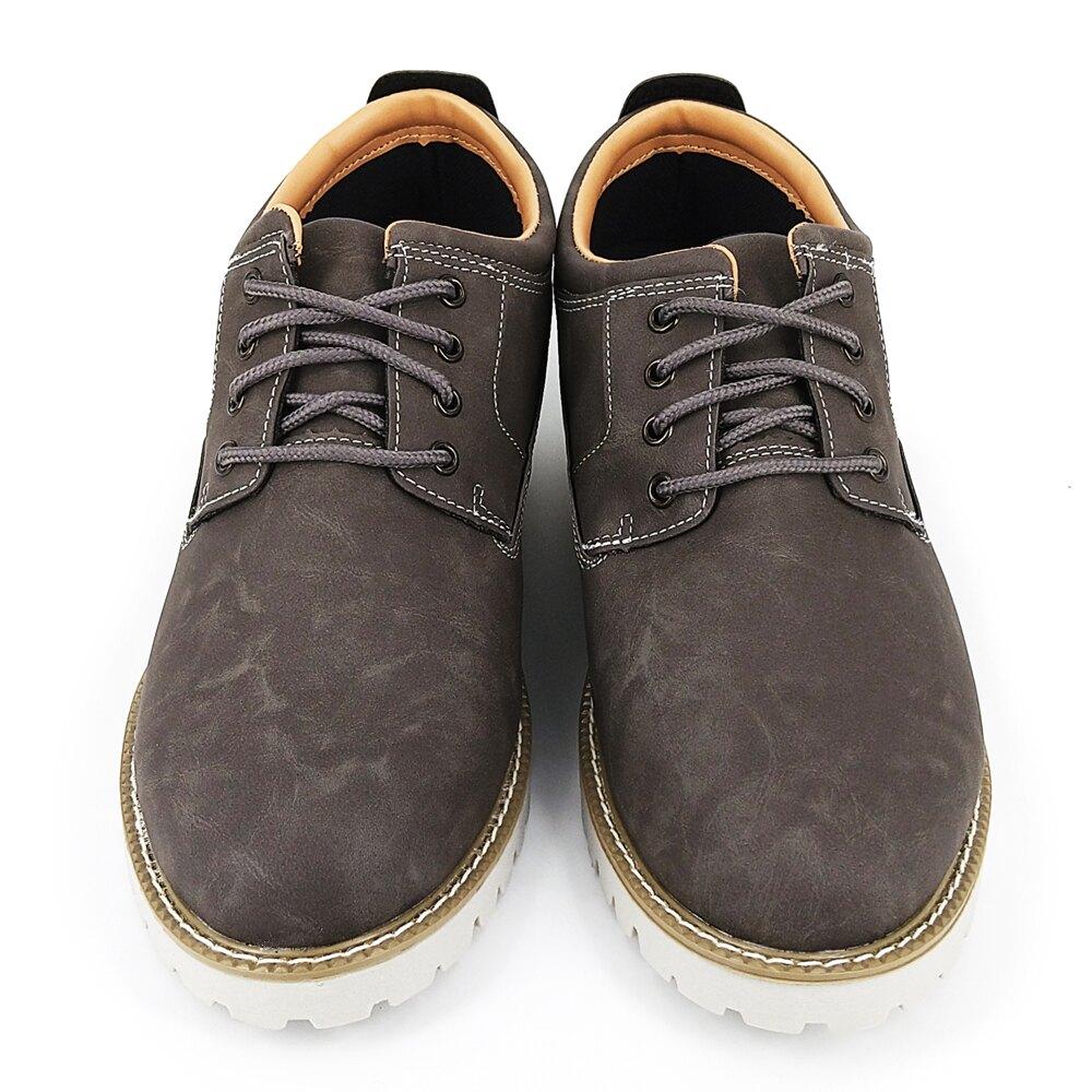HANG TEN城市休旅風手工男鞋 (減壓型鞋墊 ) M2209016灰