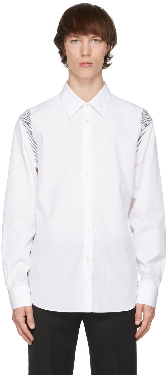 Alexander McQueen 白色拼接衬衫