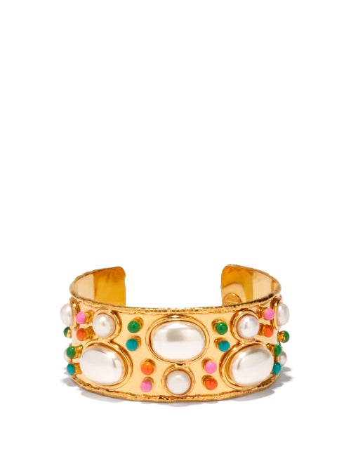 Sylvia Toledano - Byzantine Pearl & Gold-plated Cuff - Womens - Pearl