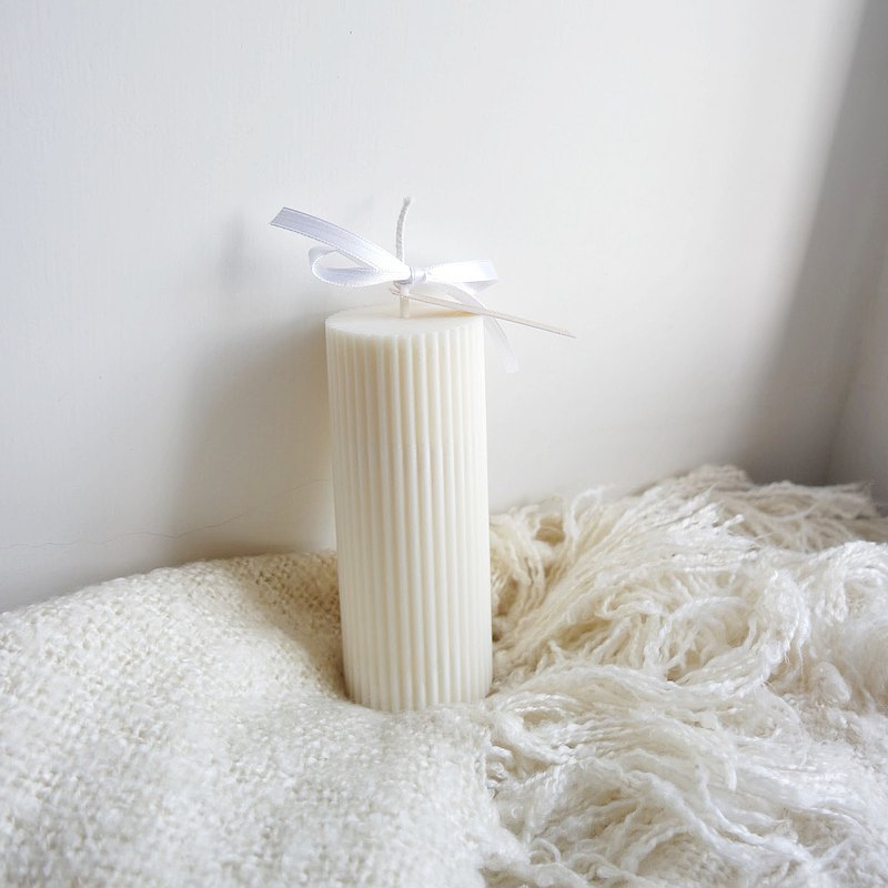 條紋圓柱大豆香薰蠟燭 | 220g